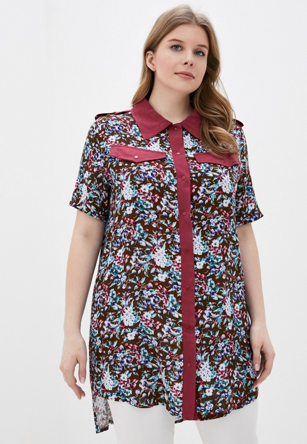 женская блузка с длинным рукавом adzhedo, бежевая