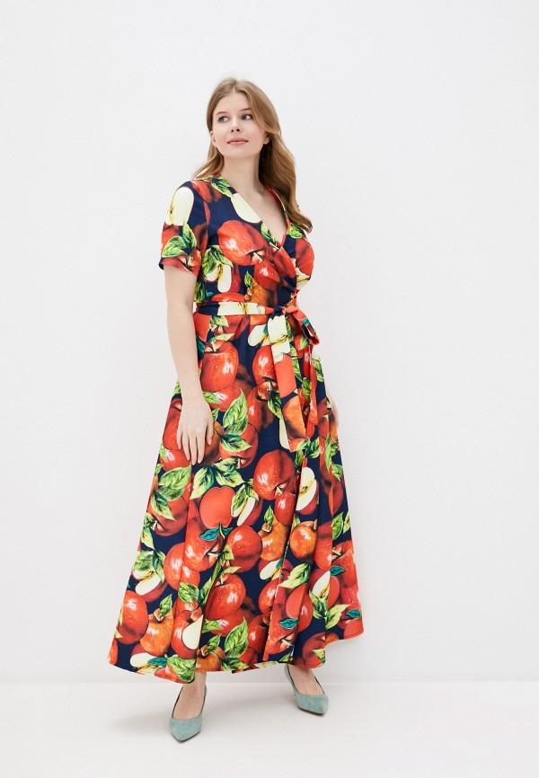 женское платье с запахом adzhedo, красное