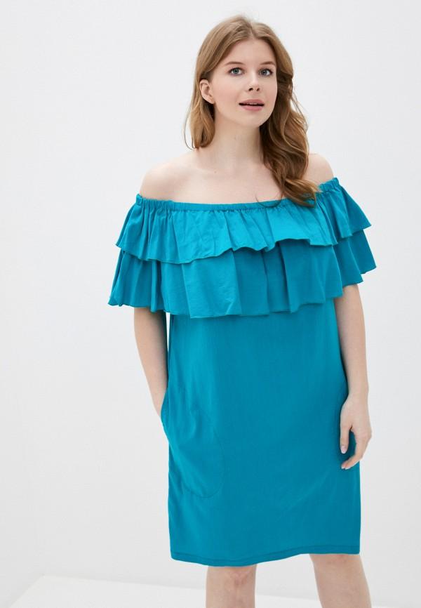 женское платье adzhedo, бирюзовое