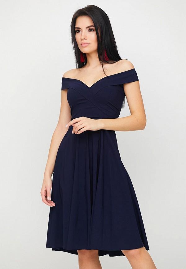 женское вечерние платье karree, синее