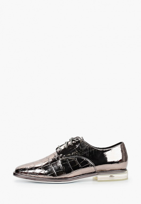 женские ботинки-оксфорды mascotte, серебряные