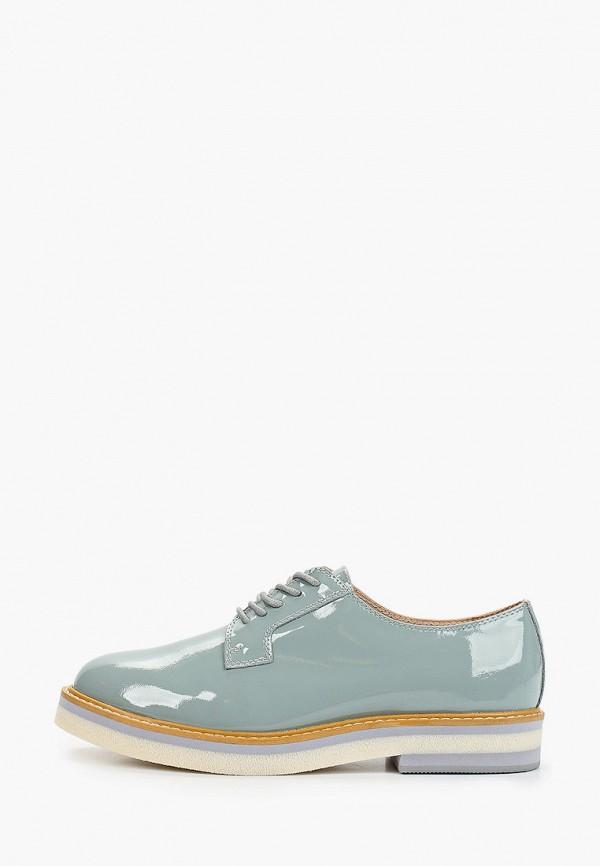 женские ботинки-оксфорды mascotte, зеленые