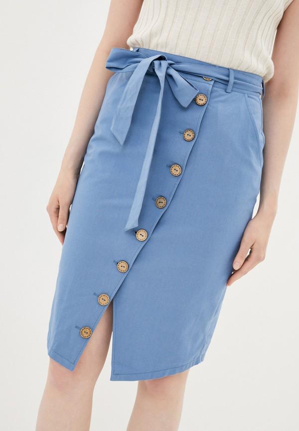 женская узкие юбка viserdi, голубая