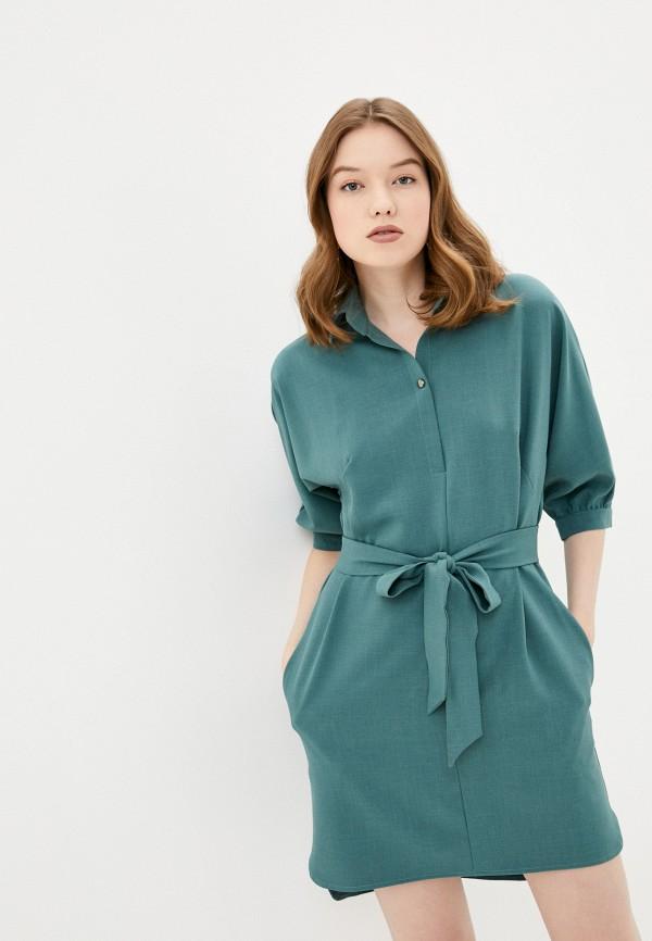 женское повседневные платье viserdi, бирюзовое