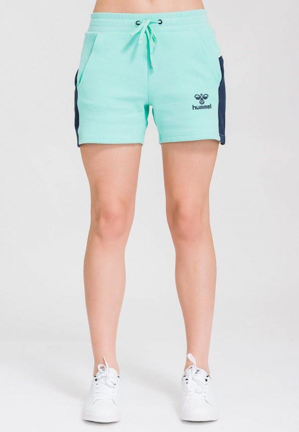 женские спортивные шорты hummel, бирюзовые