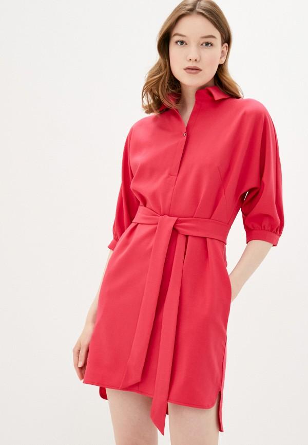 женское повседневные платье viserdi, красное
