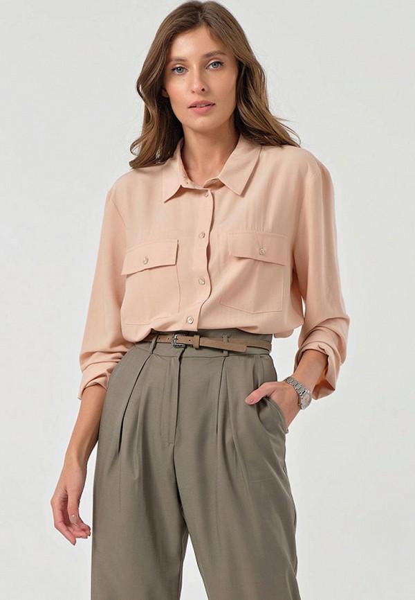 женская блузка с длинным рукавом fly, бежевая
