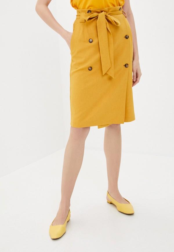 женская прямые юбка antiga, желтая