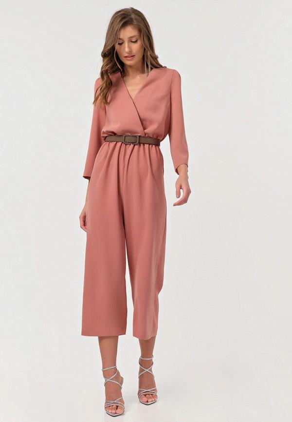 женский комбинезон с брюками fly, розовый