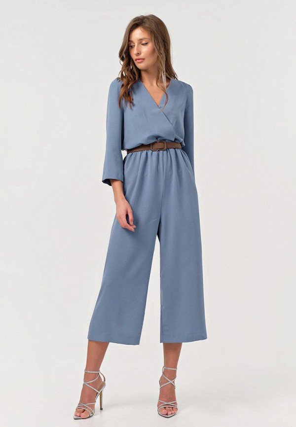женский комбинезон с брюками fly, голубой