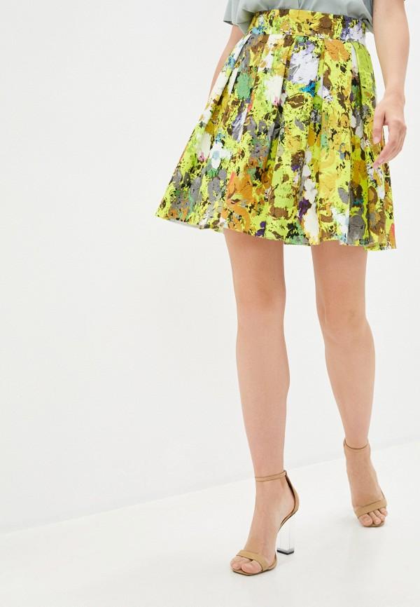 женская юбка-трапеции emansipe, желтая