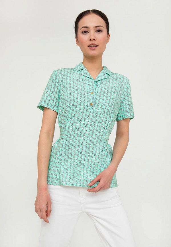 Блуза Finn Flare бирюзового цвета