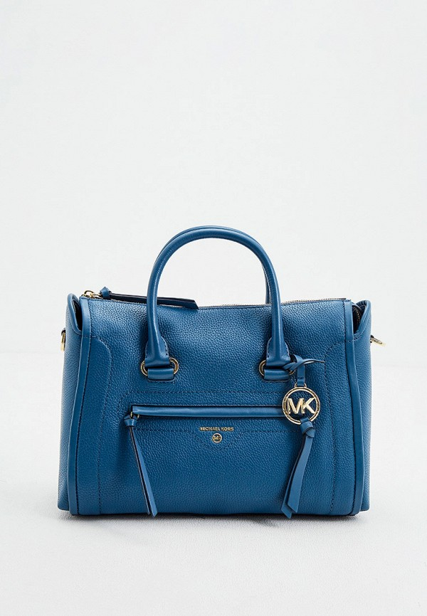 женская сумка с ручками michael kors, синяя