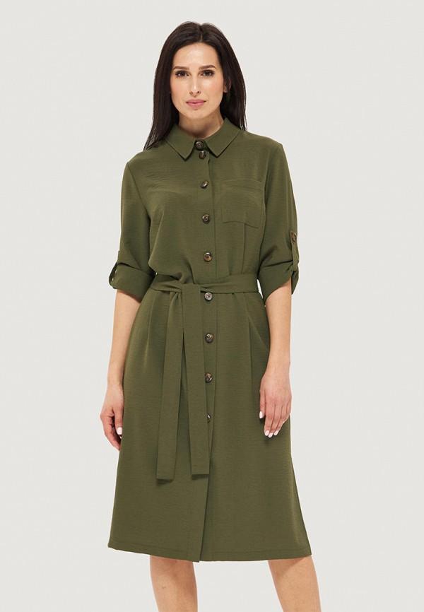 женское платье danna, зеленое