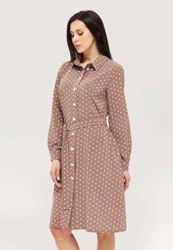 женское платье danna, коричневое