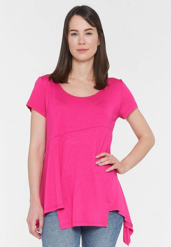 женская футболка vay, розовая