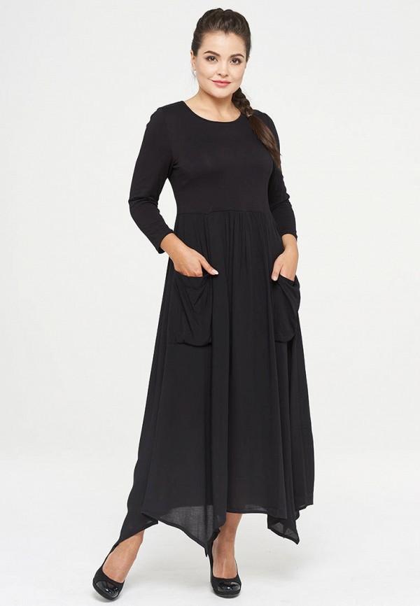 женское повседневные платье vay, черное