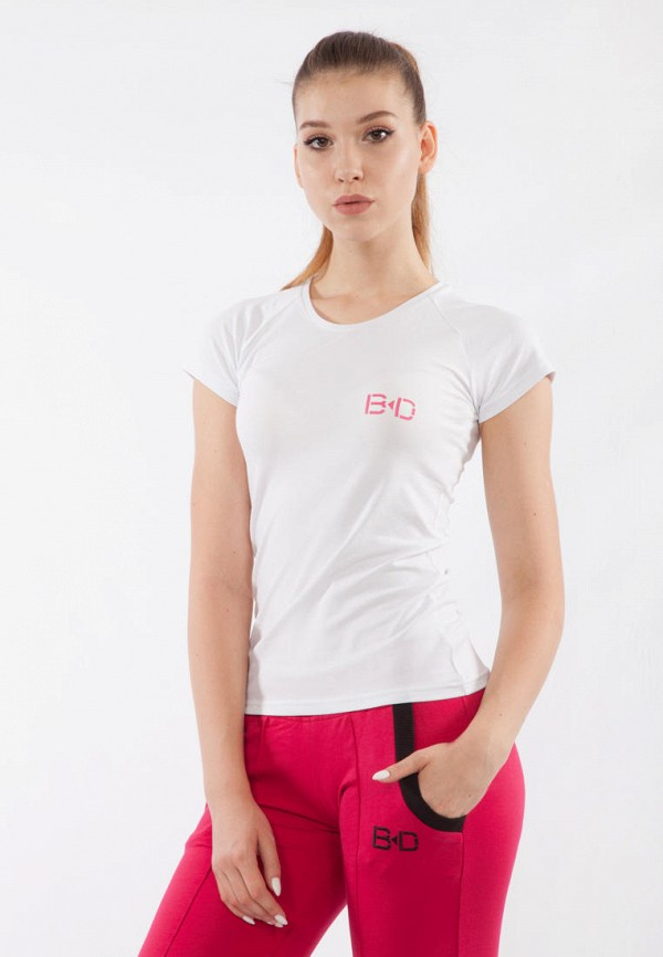 женская спортивные футболка bodro design, белая