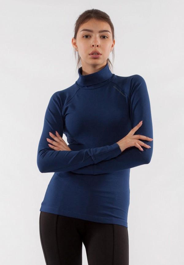 женская водолазка bodro design, синяя