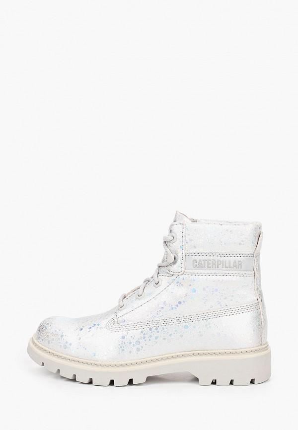женские ботинки caterpillar, серебряные