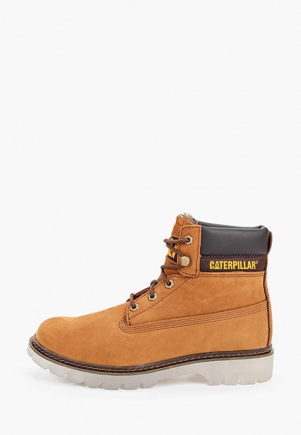 женские ботинки caterpillar, коричневые