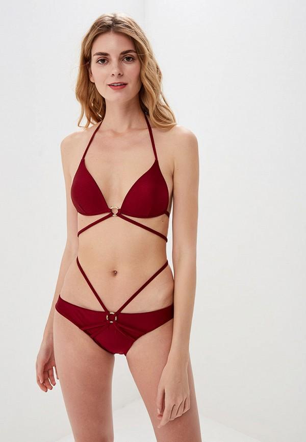 женский купальник lazurine, бордовый