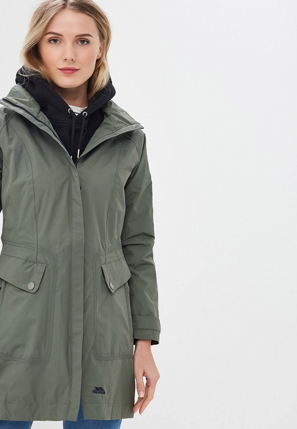 женская куртка trespass, хаки