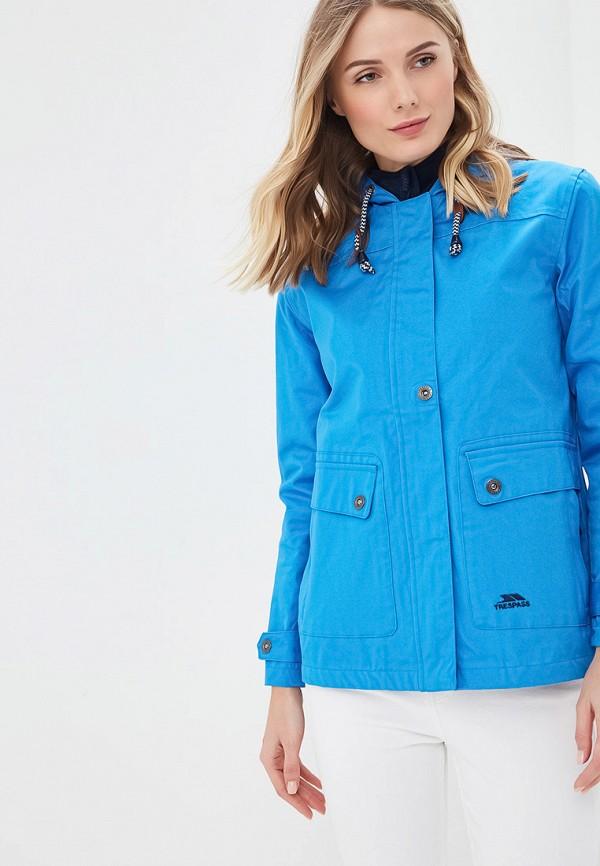 женская куртка trespass, голубая
