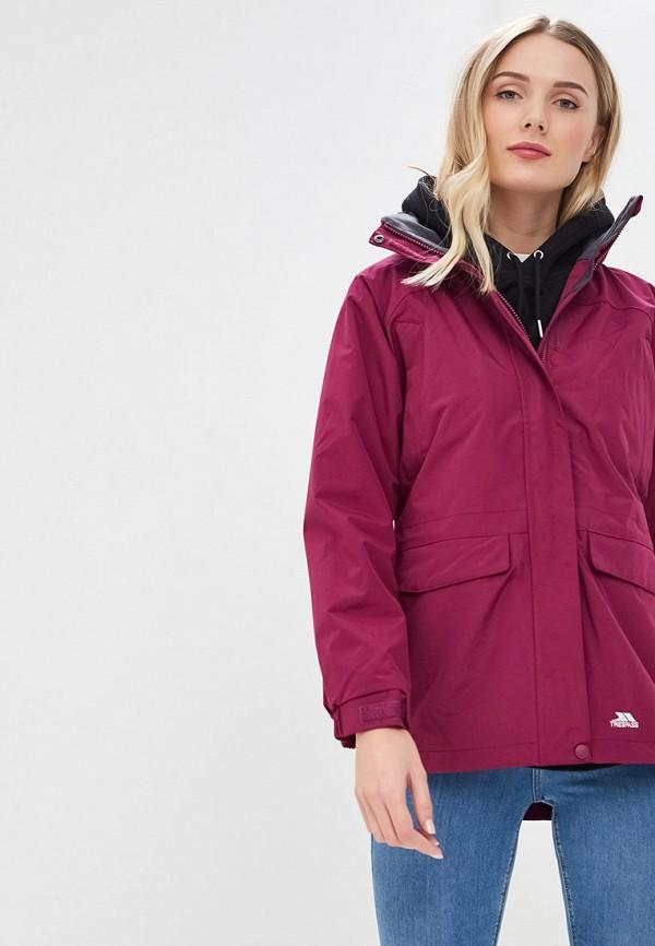 женская куртка trespass, фиолетовая