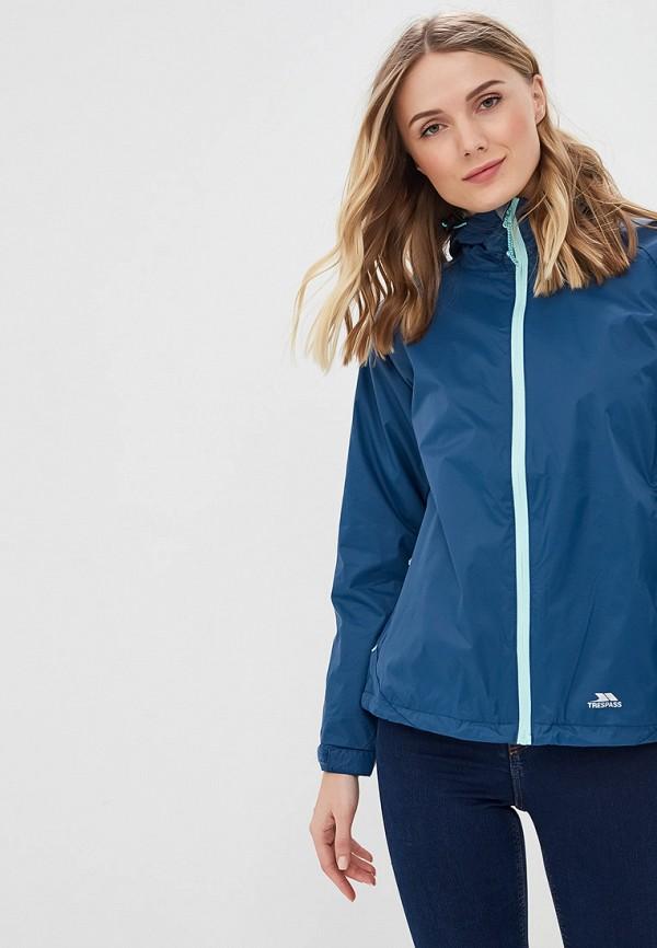 женская куртка trespass, синяя