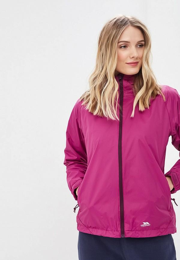 женская куртка trespass, бордовая