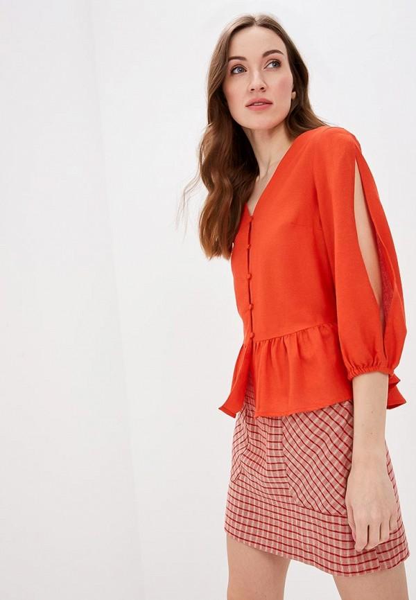 женская блузка top secret, красная