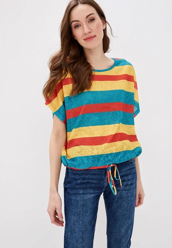женская футболка top secret, разноцветная