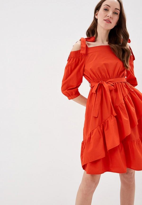 женское платье top secret, красное
