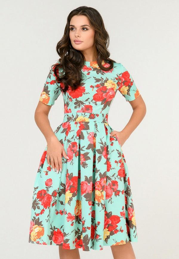 женское повседневные платье d&m by 1001 dress, бирюзовое