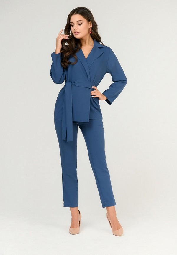 женский костюм d&m by 1001 dress, синий