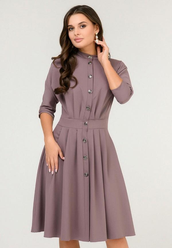 женское повседневные платье d&m by 1001 dress, коричневое