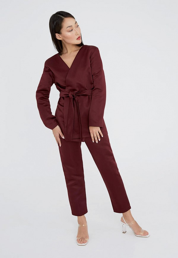 женский костюм ligio, бордовый