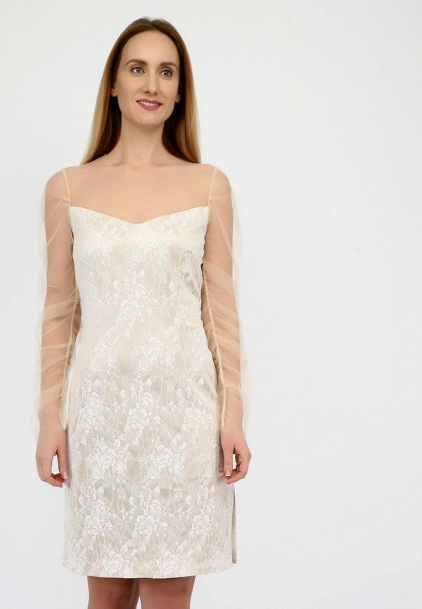 женское вечерние платье panove, бежевое