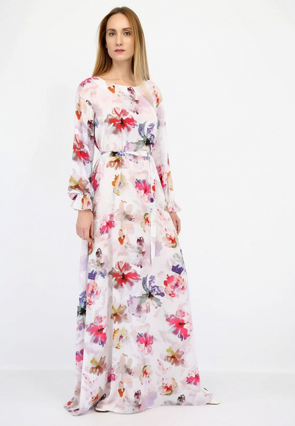 женское платье макси panove, белое