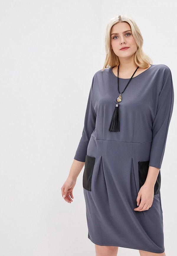 женское повседневные платье lavira, серое
