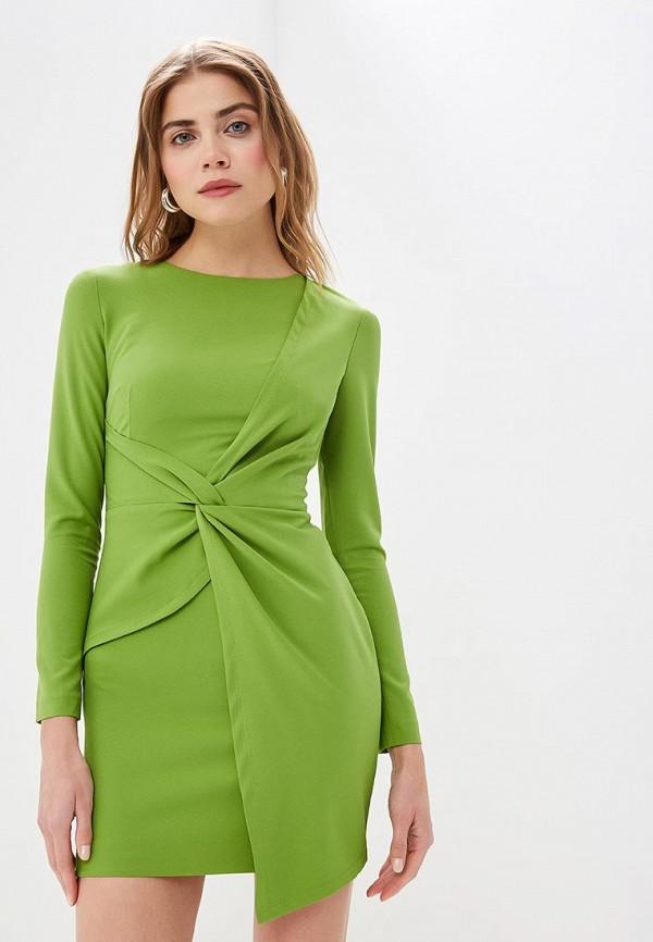 женское повседневные платье self made, зеленое