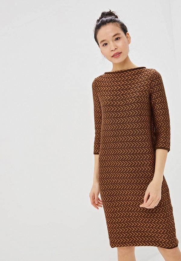 женское платье marytes, коричневое