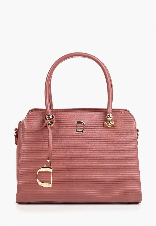 женская сумка dino ricci, розовая