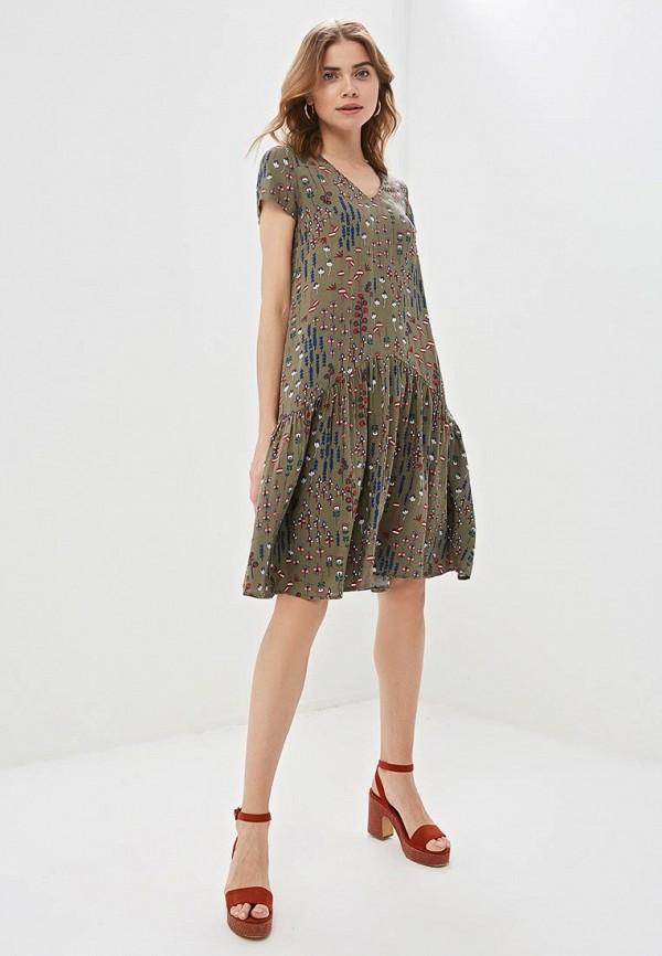 Фото 2 - Женское платье Argent цвета хаки