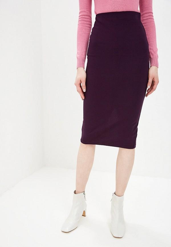 женская прямые юбка befree, фиолетовая