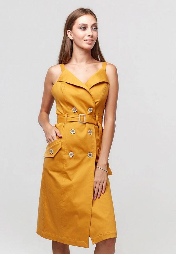 женское платье ora, желтое