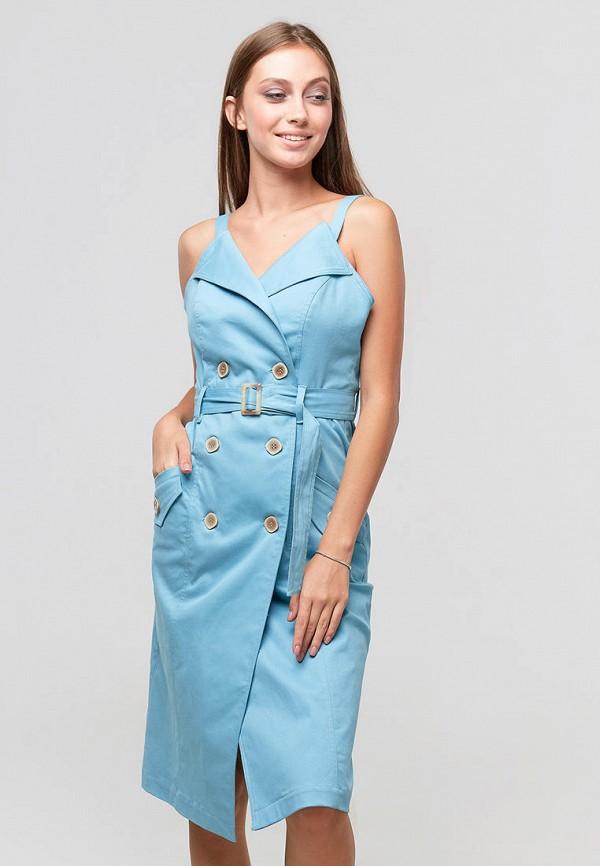 женское платье ora, голубое