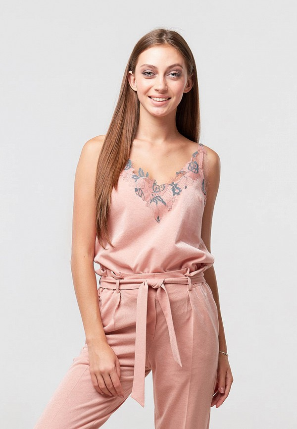 женский топ ora, розовый
