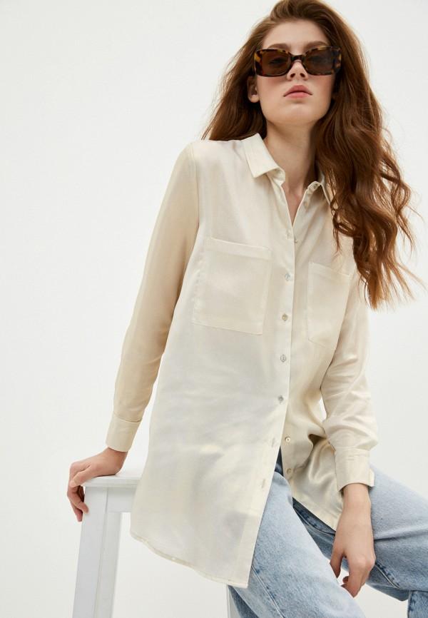 женская блузка с длинным рукавом incity, бежевая